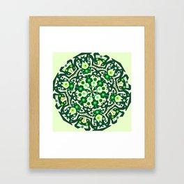 Green lovers Framed Art Print