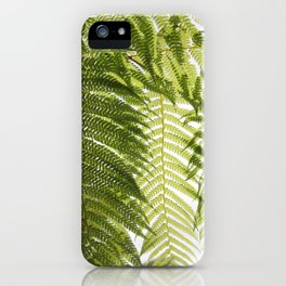 House Plant Fern Leaf Silhouette Sunlight Zen Photo iPhone Case