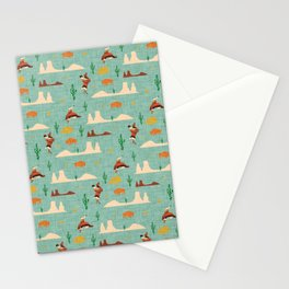 Home on the Range Blue Stationery Cards
