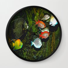 At the Aquarium Wall Clock