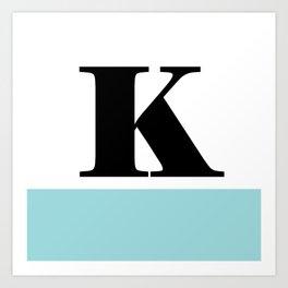 Monogram Letter K-Pantone-Limpet Shell Art Print