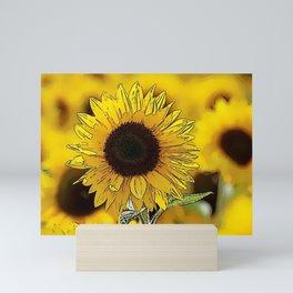 Sunflower Bliss Mini Art Print
