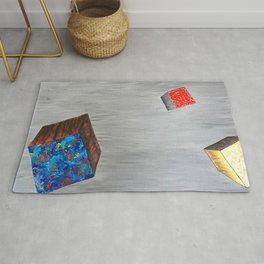Space Cubed an Abstract in Acrylic Rug