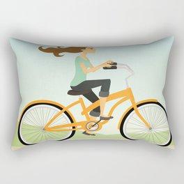 Bicycle Ride Rectangular Pillow