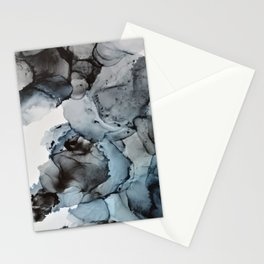 Smoke Show - Alcohol Ink Painting Stationery Cards