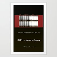 2001 a space odyssey Art Prints featuring 2001 A Space Odyssey by design.declanhackett