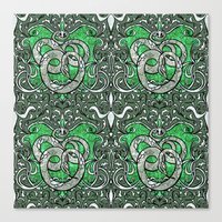 slytherin Canvas Prints featuring Slytherin by Cryptovolans