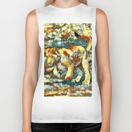 AnimalArt_Lion_20171010_by_JAMColors Biker Tank