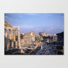 Roman Forum Ruins * Vintage Color Photo * 1950's * Kodachrome #rome  #italy Canvas Print