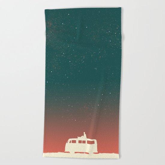 Quiet Night - starry sky Beach Towel