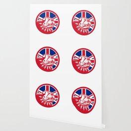 British Bulldog Head Union Jack Flag Icon Wallpaper