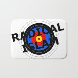 Radical Islam Target Bath Mat