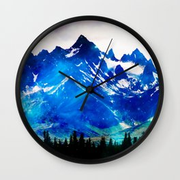 Galaxy Mountain V2 #society6 #decor #buyart Wall Clock