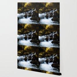 Mystery waterfall Wallpaper