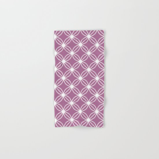 Abstract Circle Dots Purple Hand & Bath Towel