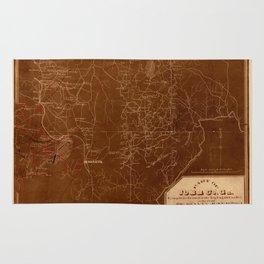 Map Of Georgia 1864 Rug