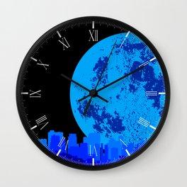 Blue City Wall Clock