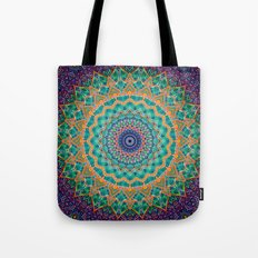 Travel Into Dimensions Mandala. Tote Bag
