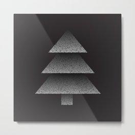 Grey Christmas Tree Metal Print