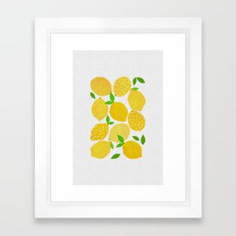 Lemon Crowd Framed Art Print