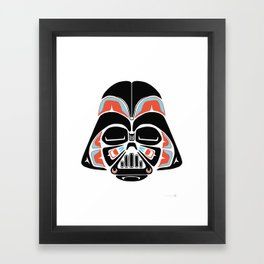 Death Mask - Alliance Is Rebellion - Darth Vader Framed Art Print
