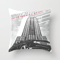 nightmare Throw Pillows featuring Nightmare by Tshirt-Factory