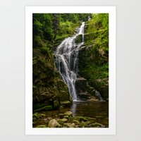 waterfall Art Prints featuring Waterfall by Pati Designs & Photography