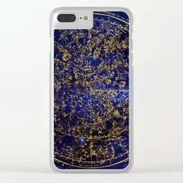 Star Map - City Lights Clear iPhone Case