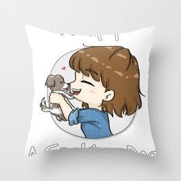 AdoptAShelterDog Throw Pillow