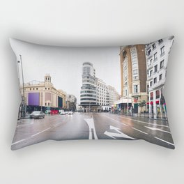 Madrid - Gran Via Rectangular Pillow