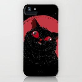 Derpy Black Cat iPhone Case