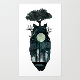 March of the Forest Spirits Art Print