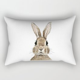 cute innocent rabbit Rectangular Pillow