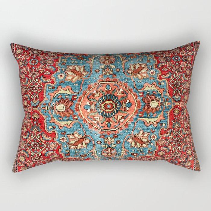 Bidjar Antique Kurdish Northwest Persian Rug Print Rectangular Pillow