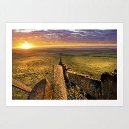 Sunrise over Castleton. Art Print