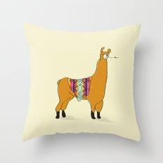 Peruvian Lama Throw Pillow