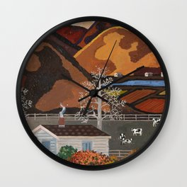 Ameican Pumpkin Patch 3 Wall Clock