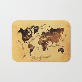 world map 75 Bath Mat