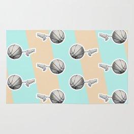 Spin a basketball Rug