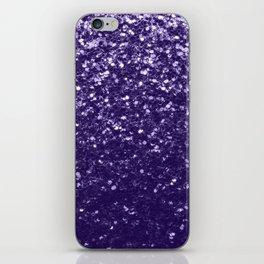 Dark ultra violet purple glitter sparkles iPhone Skin