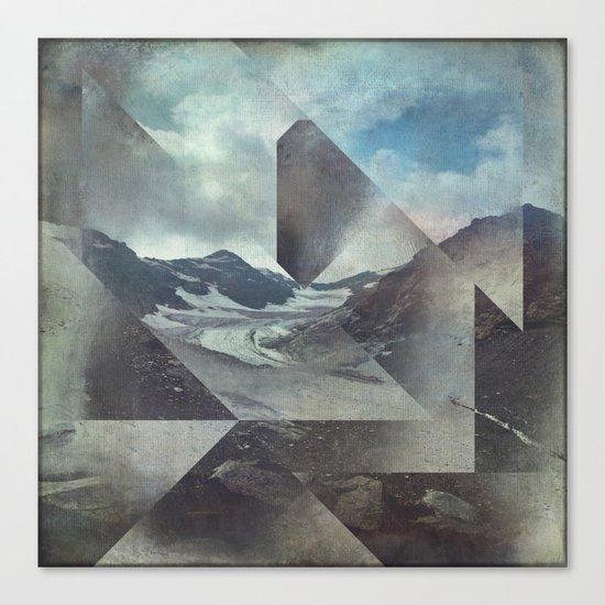 Mountains Glacier - Cuts Canvas Print