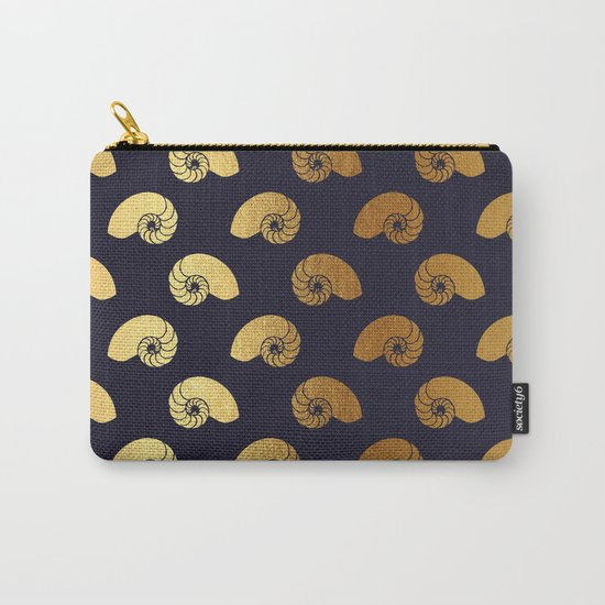 Nautical gold shell  Carry-All Pouch