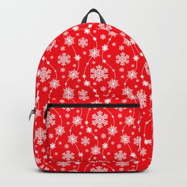 Christmas Red Snowflake Pattern Backpack