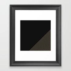 Tan & Black Stripes  Framed Art Print