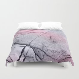Urban Pink and Grey Marble Duvet Cover
