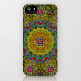 Golden mandala iPhone Case