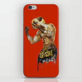 Pug Muay Thai iPhone Skin