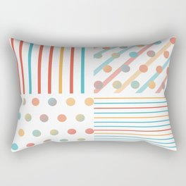 Simple saturated pattern Rectangular Pillow