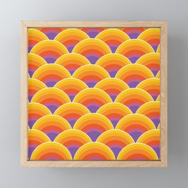 Psychedelic Sea Framed Mini Art Print