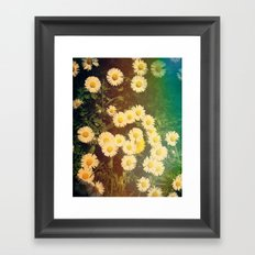 Walking in the Daisies Framed Art Print